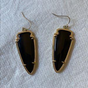 Kendra Scott Drop Arrow Earrings - Black
